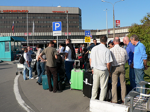 Teams arrival at Moscow Sheremetyevo on 15/09/09