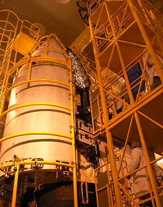 Set up of the second half of the fairing